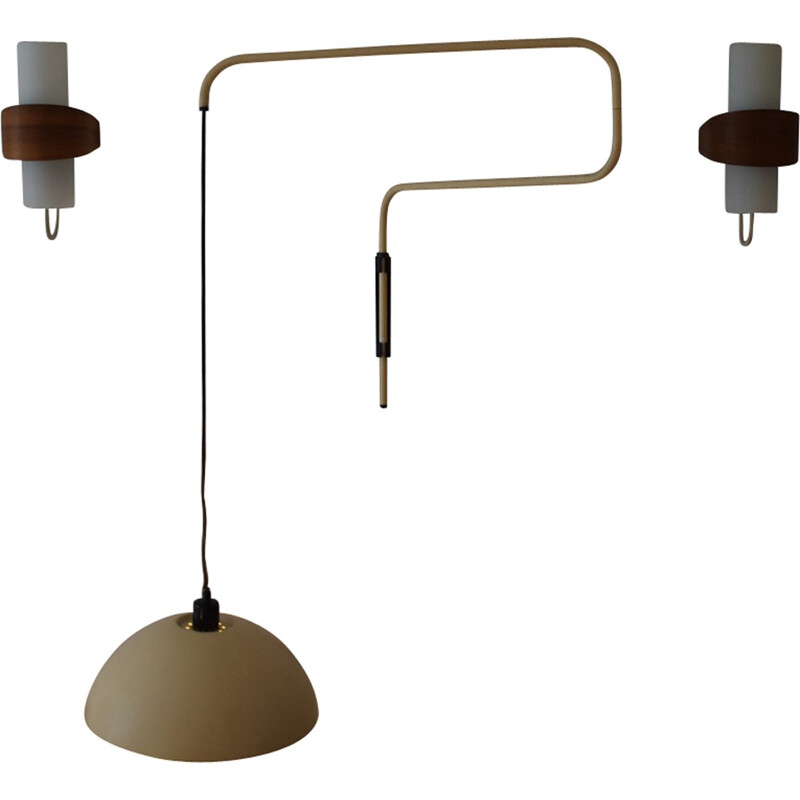 Large wall lamp by Elio Martinelli for Martinelli Luce - 1960s