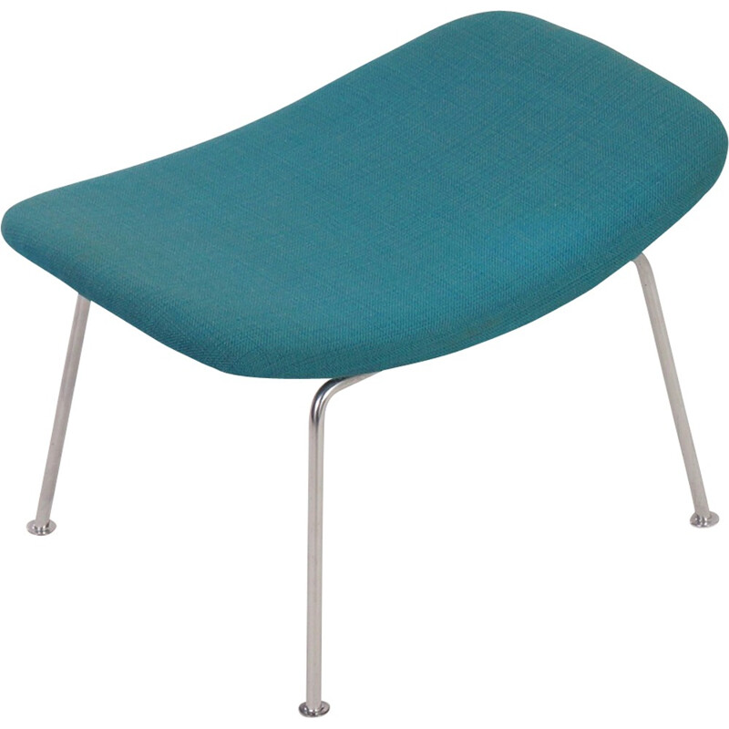 Blue footstool by Pierre Paulin for Artifort - 1950s