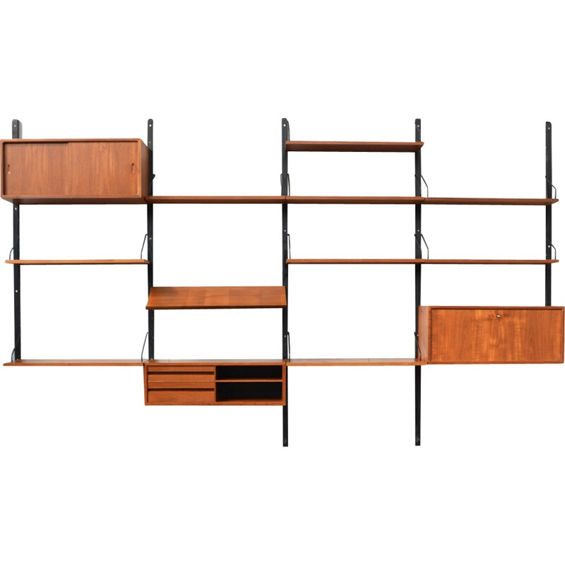 Royal wall unit system in teak by Poul Cadovius - 1950s