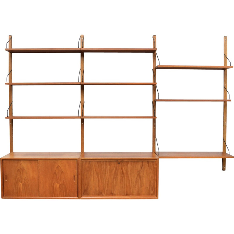 Cadovius Royal wall unit in teak, Denmark - 1950s