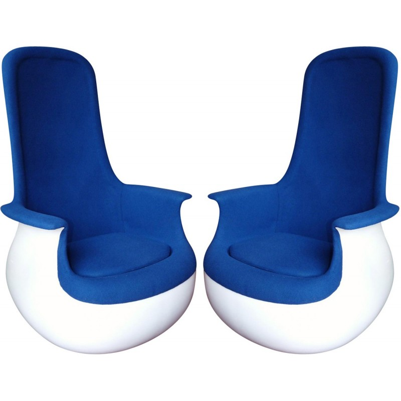 Pair of Culbuto armchairs by Marc Held for Knoll - 1970s