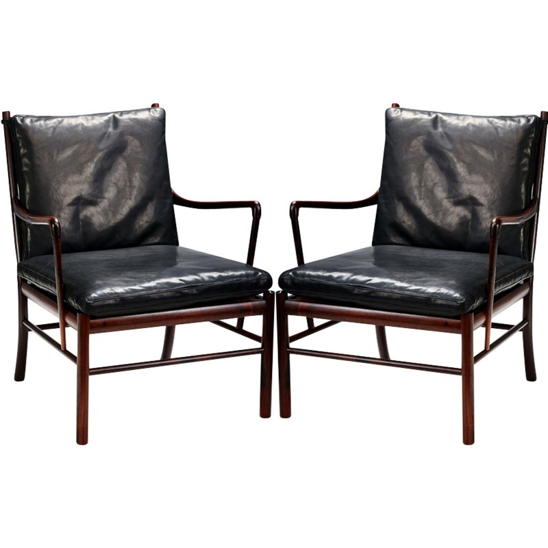 Pair Of Ole Wanscher PJ 149 Colonial Chairs   1949