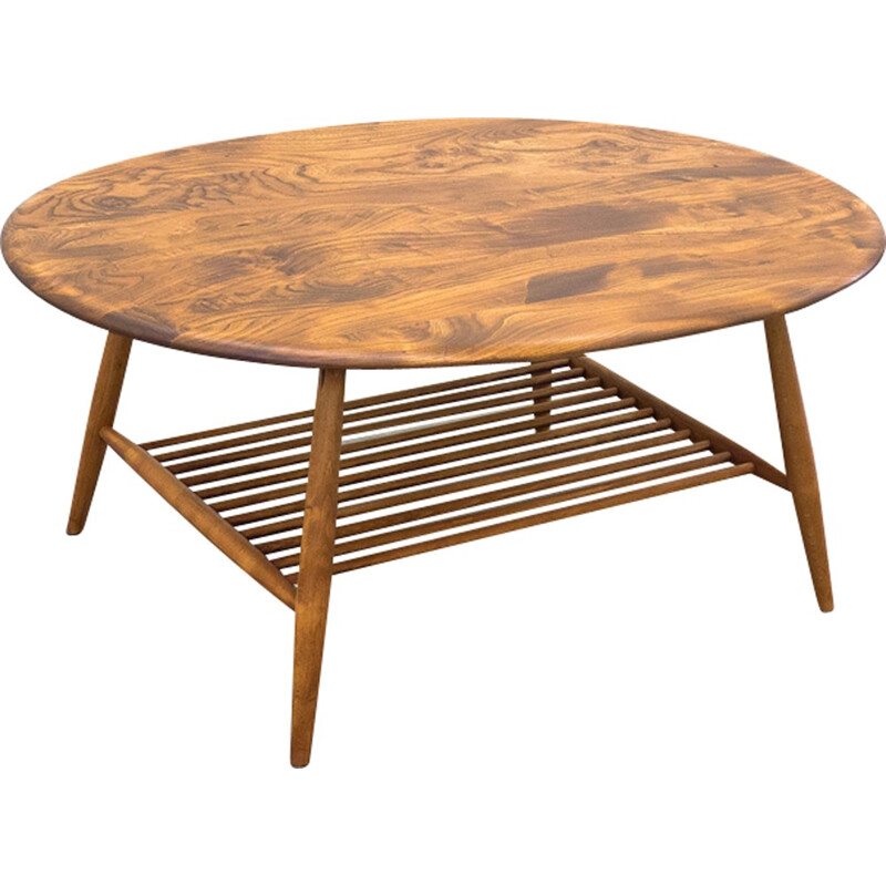 Elm coffee table designed by Ercolani for Ercol - 1960s