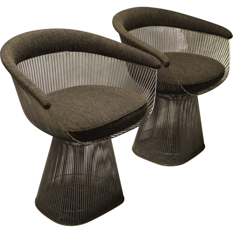 Pair of Armchairs model 1725A by Warren Platner for Knoll international - 1960s