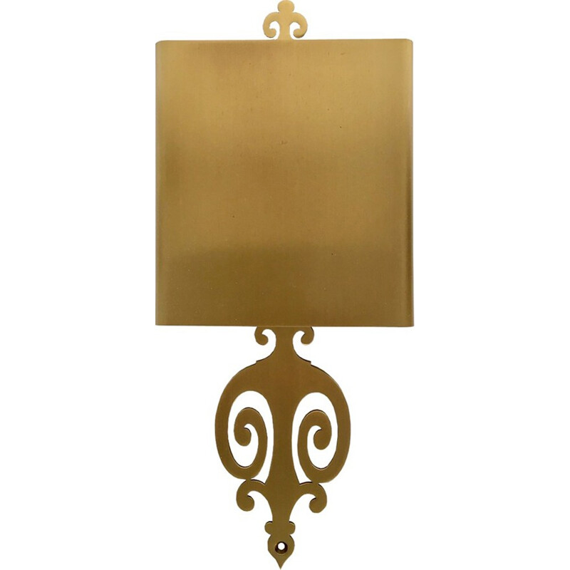 Brass wall lamp from Maison Charles - 1960s