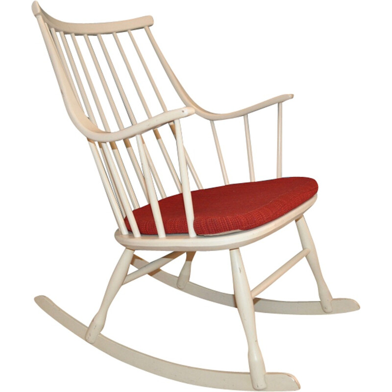 Vintage Rocking Chair by Lena Larsson for Nesto - 1960s