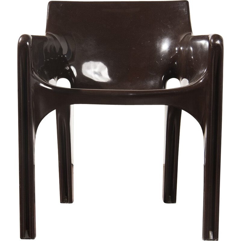 Gaudi chocolate brown armchair designed by Vico Magistretti - 1970s