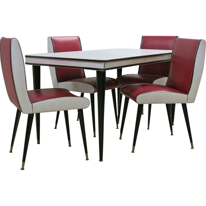 Mid-Century dining set by Umberto Mascagni for Harrods - 1950s