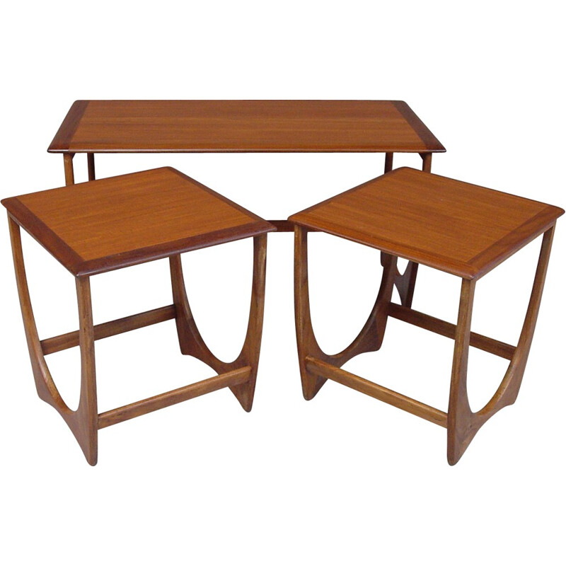 Set of 3 teak G plan nesting tables - 1970s