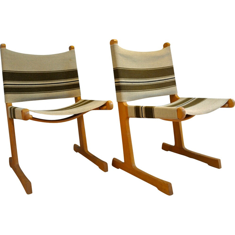 Pair of Ditte & Adrian Heath chairs for France & Søn - 1960s