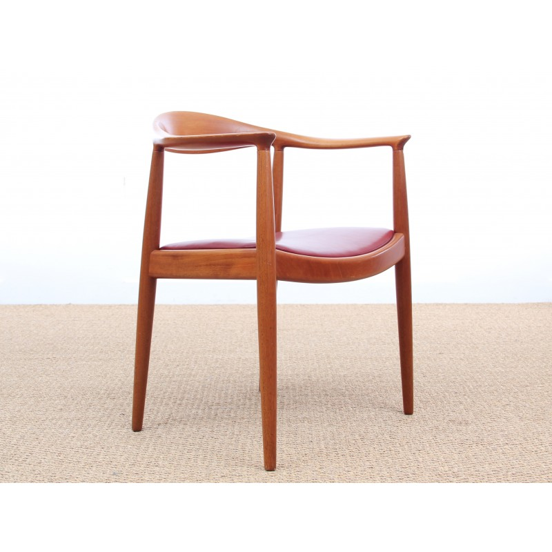 vintage cow horn chair in solid mahogany by hans wegner for johannes