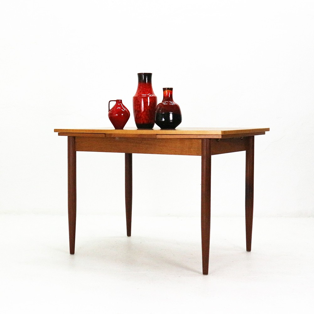 Vintage Teak Dining Table With Pull Out Leaves 1960s Previous Next