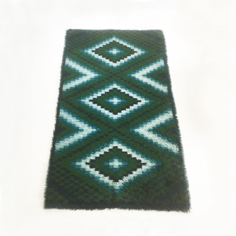 Scandinavian Square Pattern Rya Rug By Ege Taepper 1960s Design Market