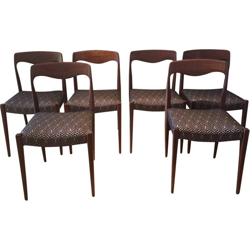 Set of 6 renovated Scandinavian vintage chairs - 1960s