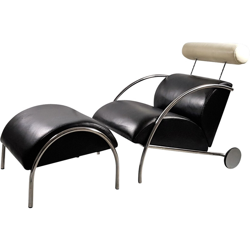 Peter Malys Zyklus vintage armchair and its ottoman for Cor - 1980s