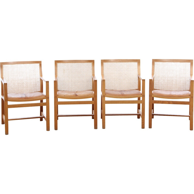 Suite of 4 Scandinavian vintage armchairs by Rud Thygesen & Johnny Sørensen - 1950s