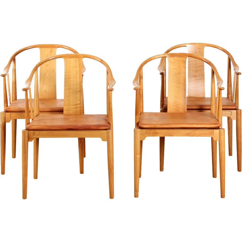 Suite of 4 chairs, China chair by Hans Wegner - 1970s