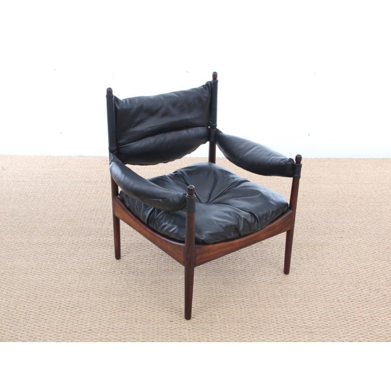 Pair of vintage scandinavian armchairs made of rio rosewood Modus ...