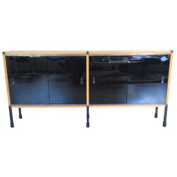 Sideboard in oak and glass, ARP - 1950s