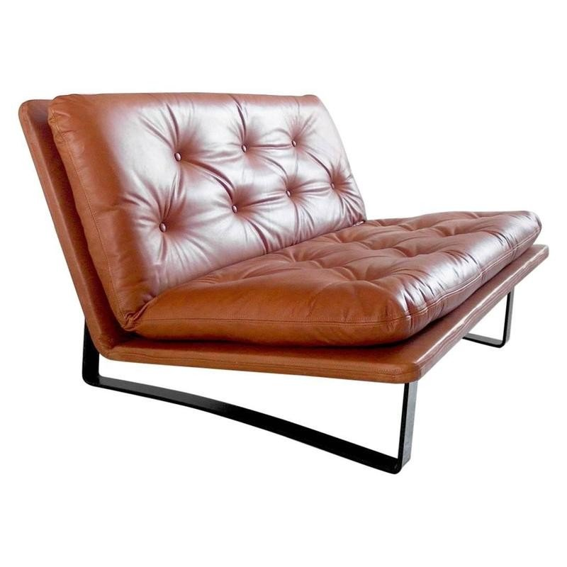 Remarkable Daybed Loveseat In Cognac Leather By Kho Liang Le For Artifort 1960S Machost Co Dining Chair Design Ideas Machostcouk