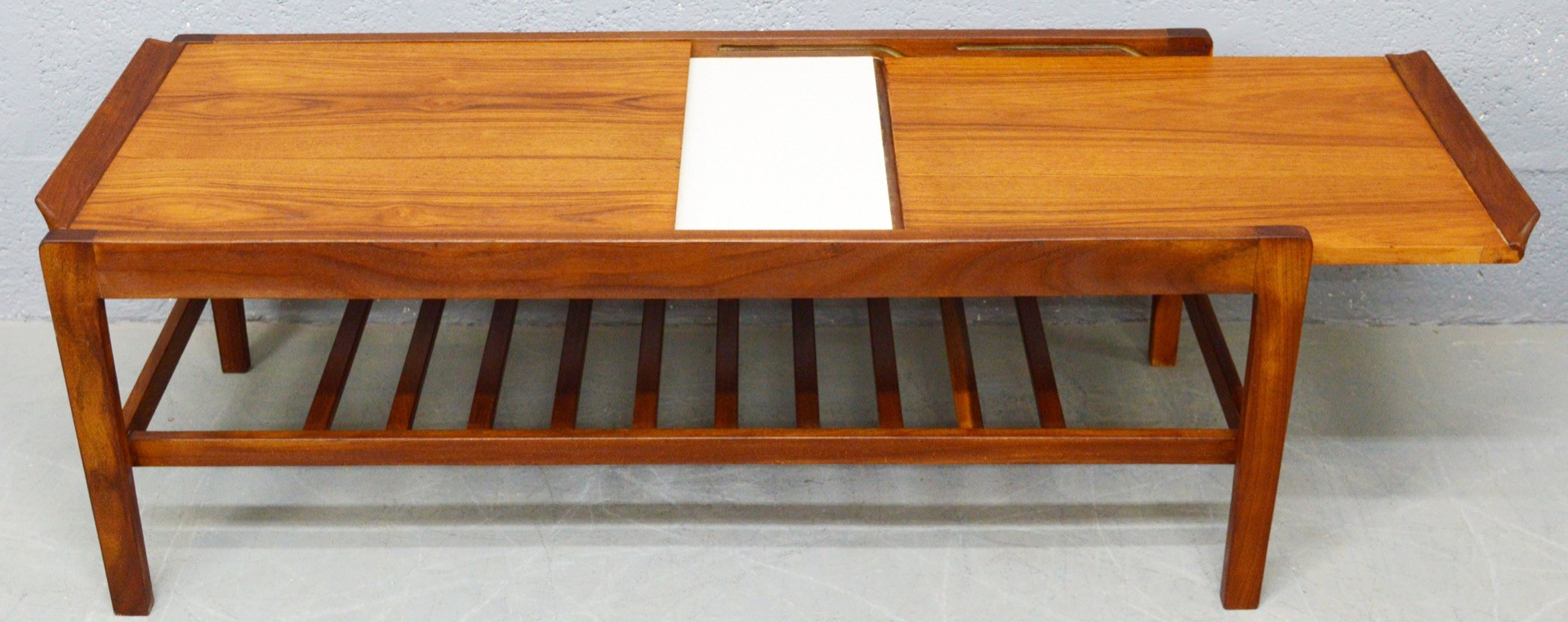 Vintage Teak And Melamine Coffee Table By Remploy 1960s