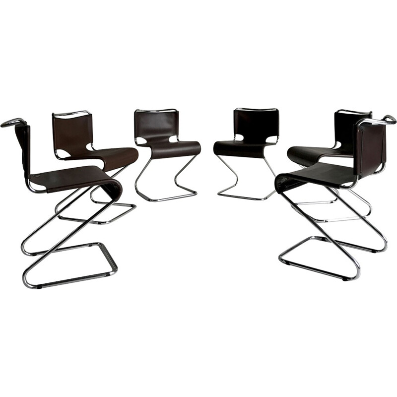 Set of 6 Biscia chairs by Pascal Mourgue for Steiner, France - 1970s