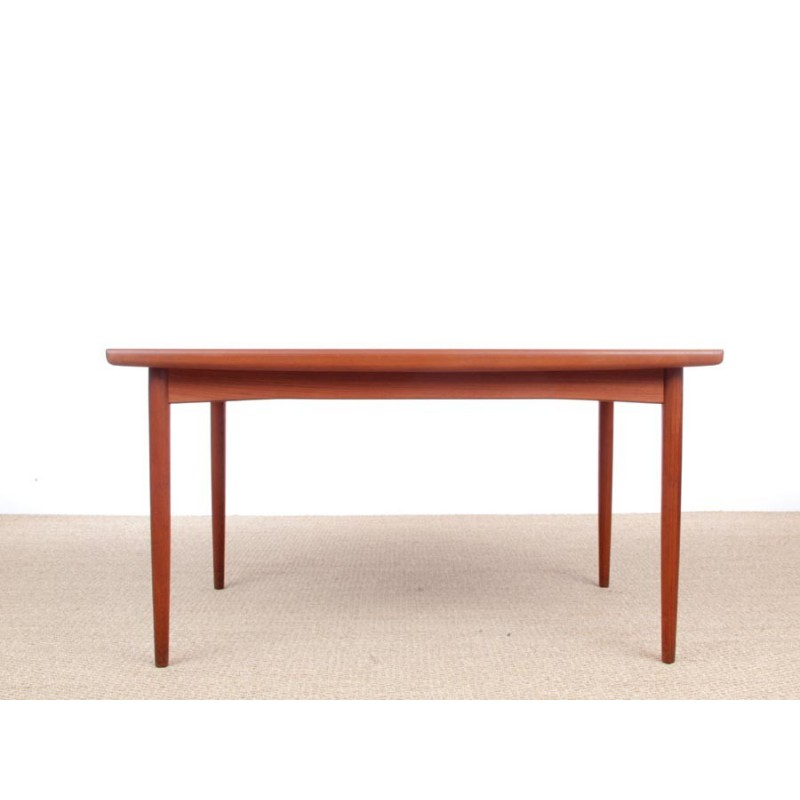 Scandinavian Teak Dining Table With Extensions 6 10 Pers 1950s Design Market