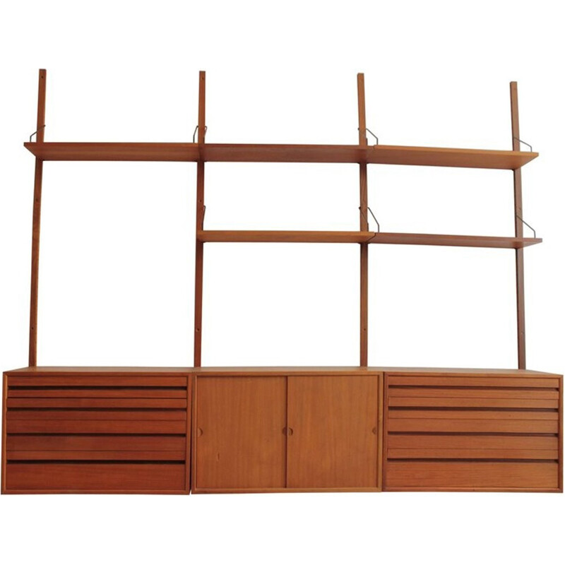 Vintage wall shelving system by Poul Cadovius for Cado House - 1960s