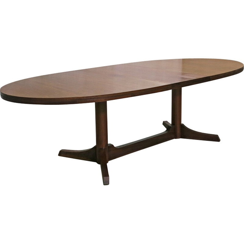 Oval vintage Dining Table by Robert Heritage for Archie Shine - 1960s