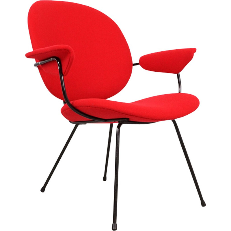 Red easy Chair by W.H. Gispen for Kembo - 1950s