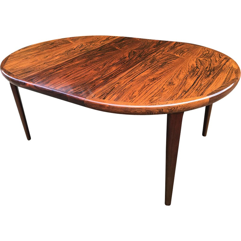 Danish Rosewood 2 leaf Extendable Mid Century Dining Table - 1960s