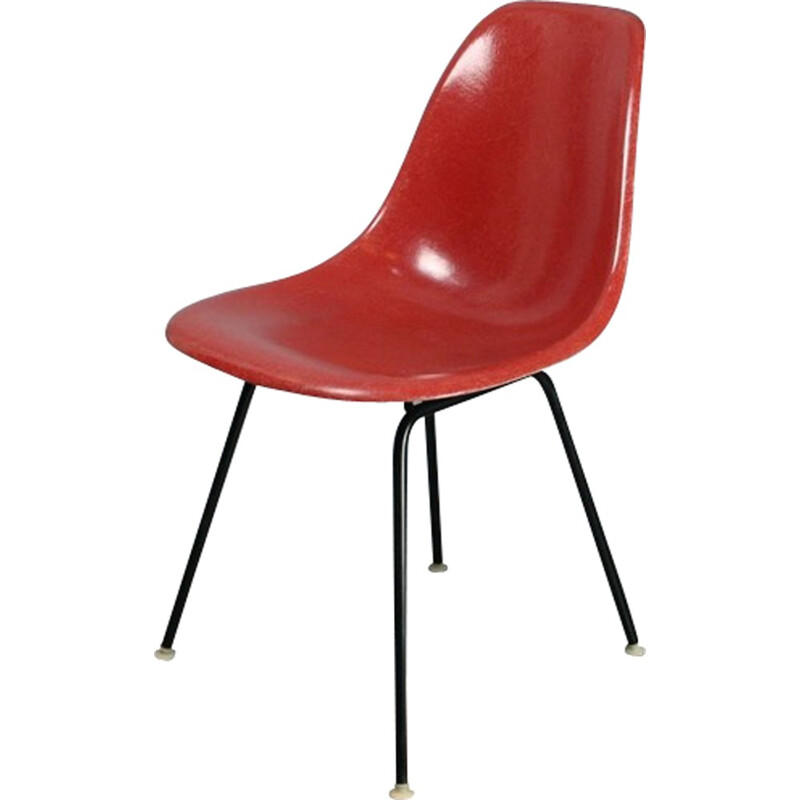 DSX Terracotta vintage chair by Eames for Herman Miller - 1950s
