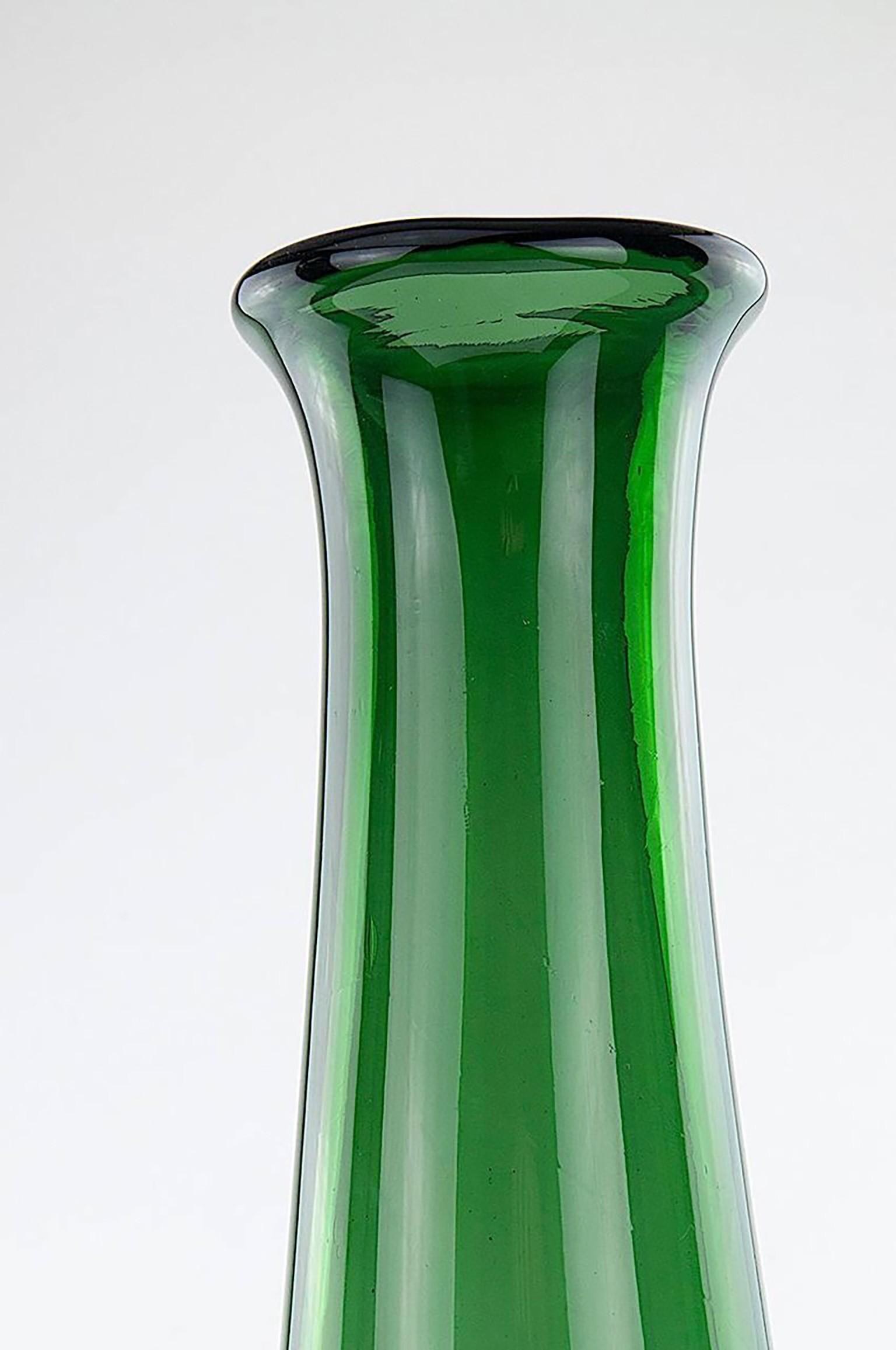Glass vintage green vase 1960s design market glass vintage green vase 1960s previous next reviewsmspy