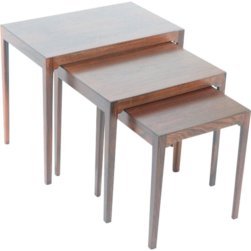 Danish 3 nesting side tables by BR Gelsted - 1960s