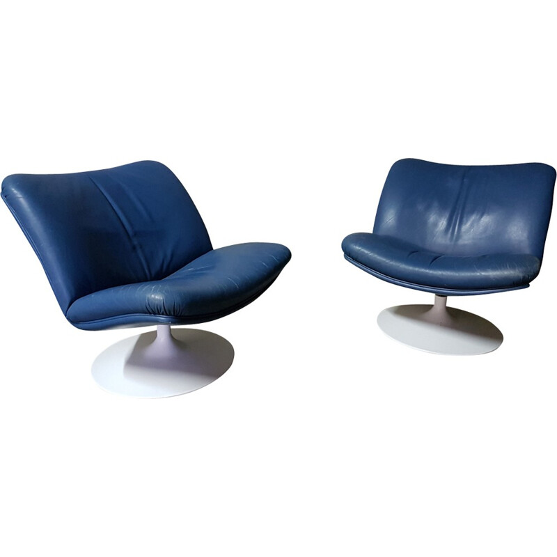 Pair of F504 armchairs by Geoffrey Harcourt for Artifort - 1960s