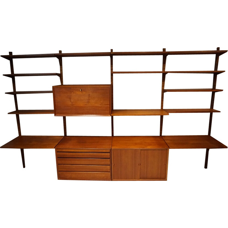 Large Scandinavian Teak Bookcase by P. Cadovius - 1960s