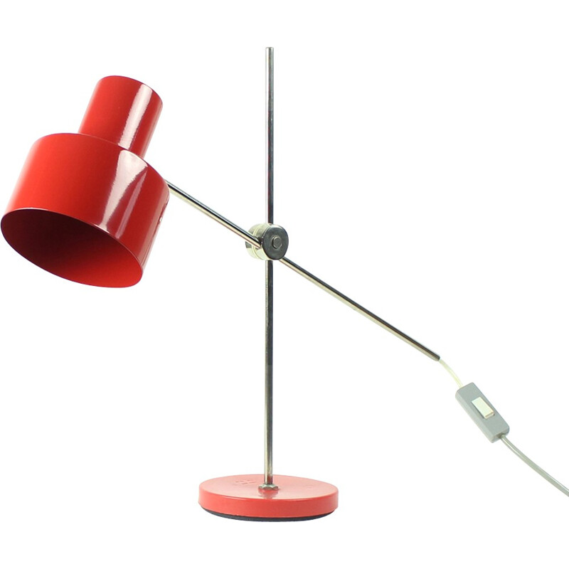 Red Table Lamp by Jan Suchan for Elektrosvit - 1960s
