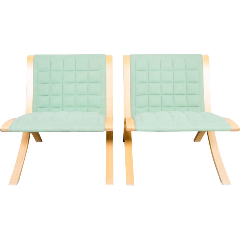 Set of 2 Ax Chairs by Orla Molgaard & Peter Hvidt for Fritz Hansen - 1970s