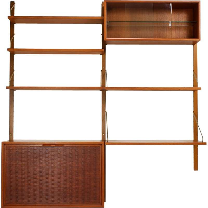 Royal System Wall bookcase by Poul Cadovius, Denmark - 1960s