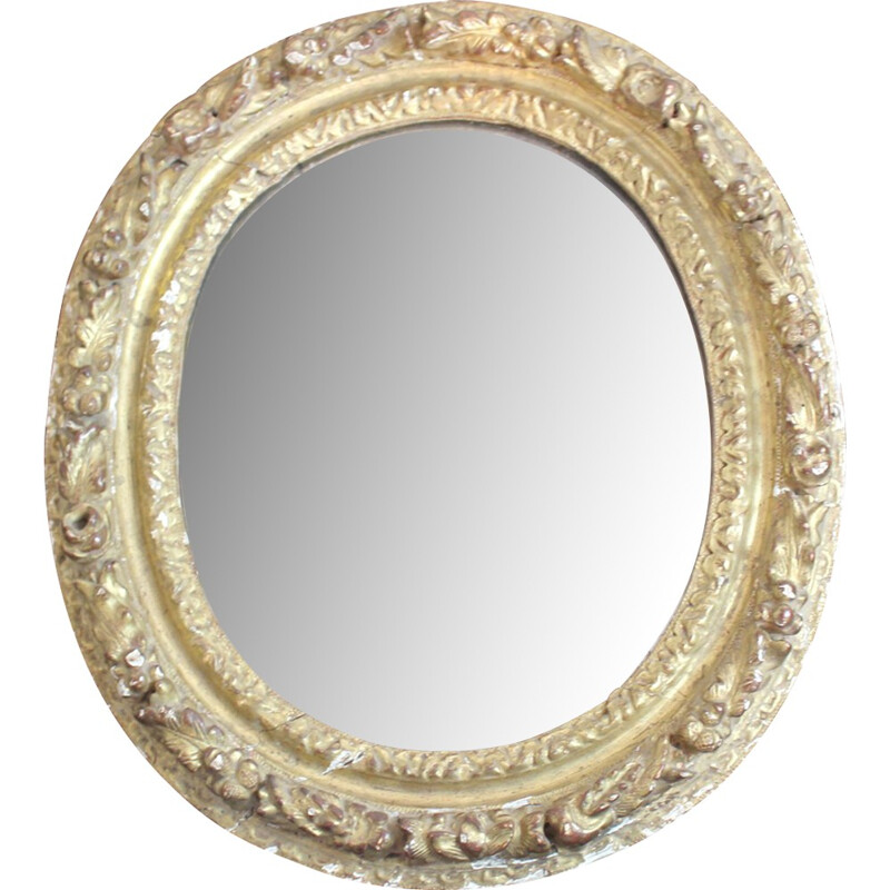 Mirror in carved and stucco wood - 1930s
