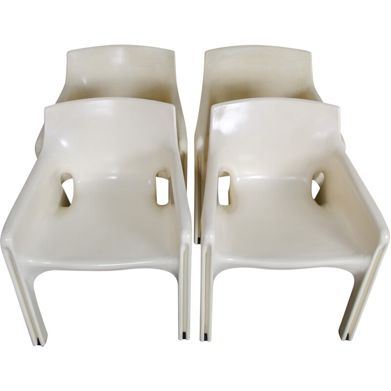 """Set of 4 Dining Chairs """"Gaudi Model"""" by Vico Magistretti for Artemide - 1970s"""