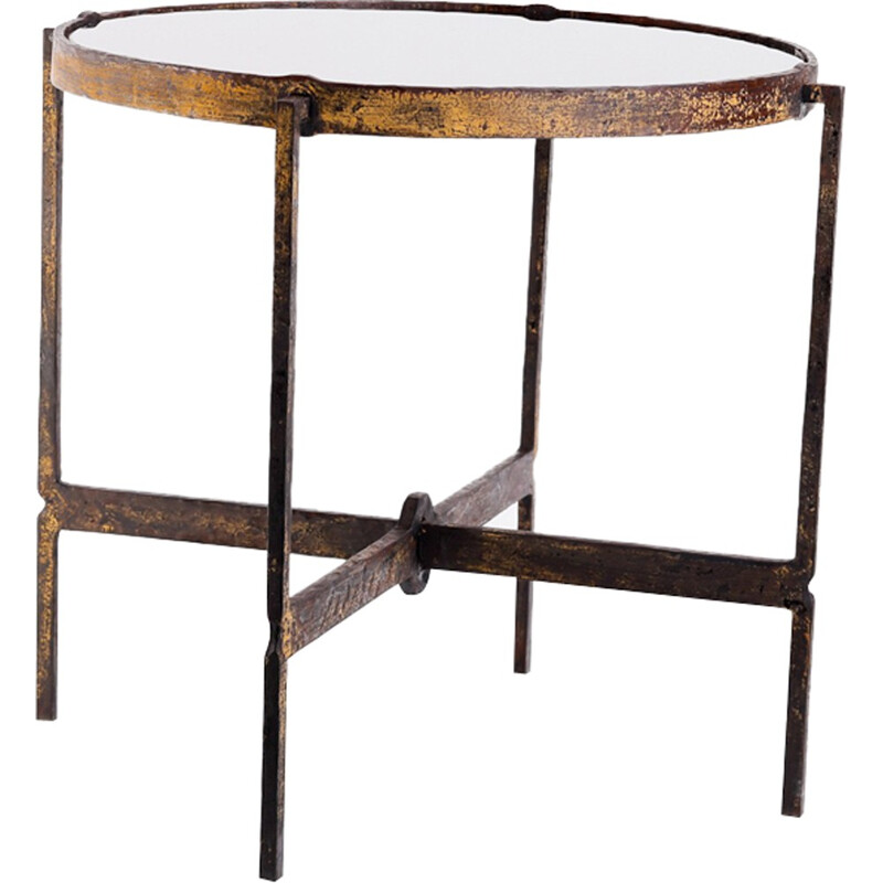 Hungarian Wrought Iron Side Table - 1970s