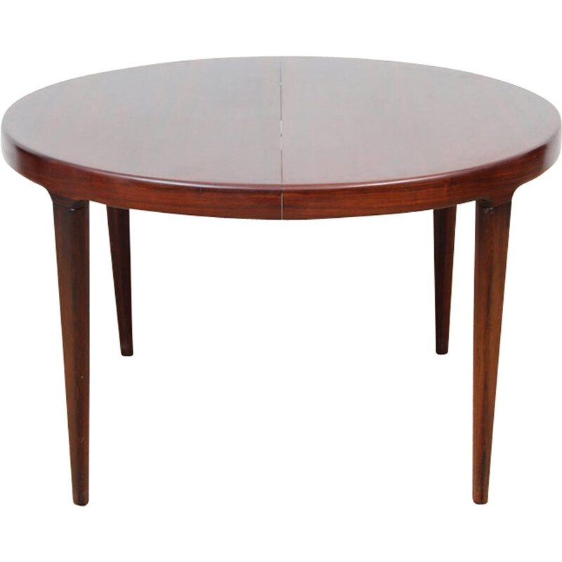 Scandinavian extensible dining table made of Rio Rosewood - 1960s