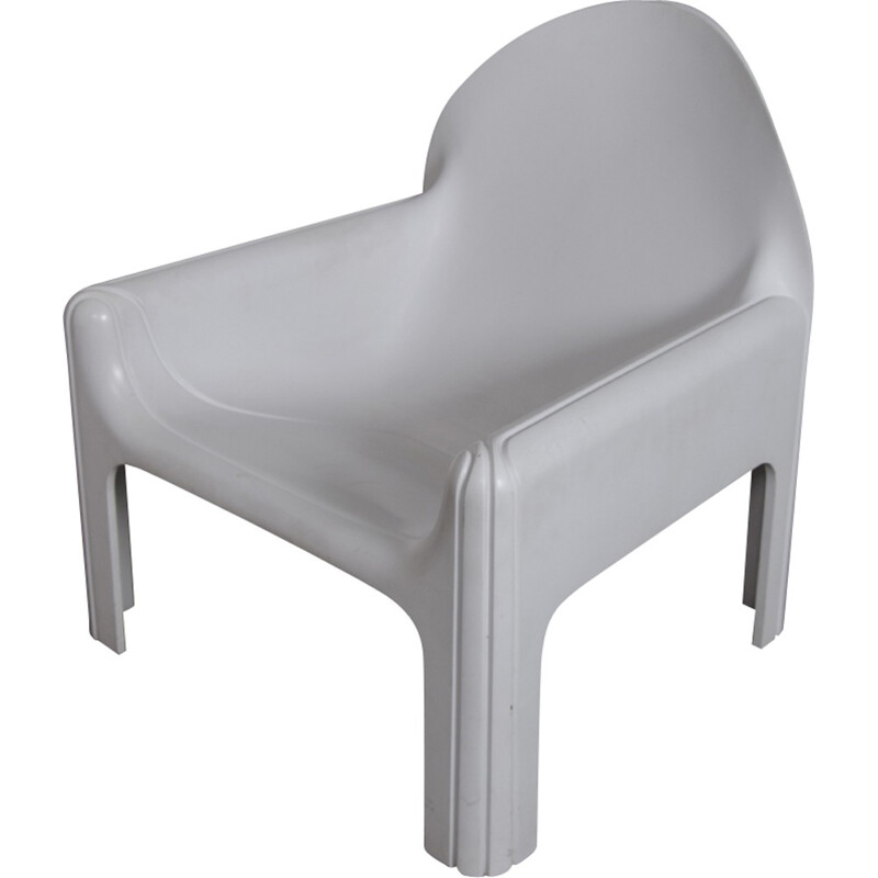 Paire of White Model 4794 Lounge armhairs by Gae Aulenti for Kartell - 1974