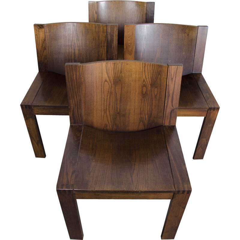 Set of 4 dining SE15 Chairs by Boonzaijer & Mazairac for Pastoe - 1976