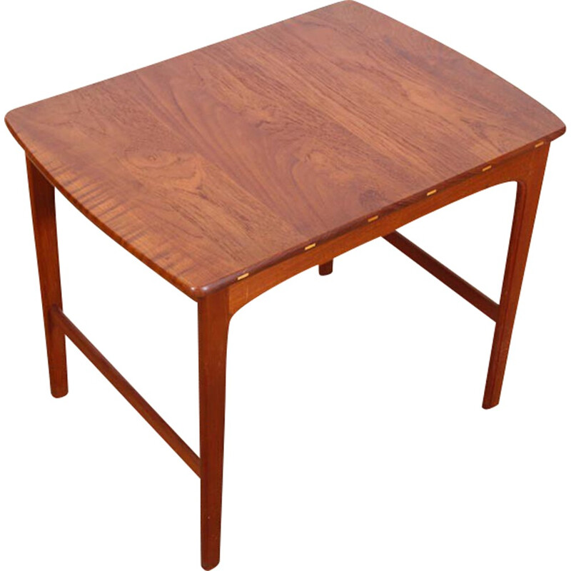 Scandinavian Solid Teak Side Table by Yngvar Sandström - 1960s