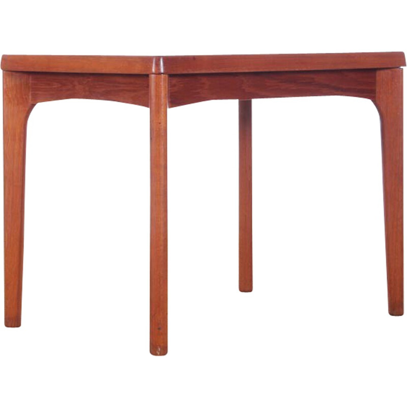 Scandinavian Solid Teak Side Table by de Henning Kjærnulf pour Vejle Mobelfabrik - 1960s