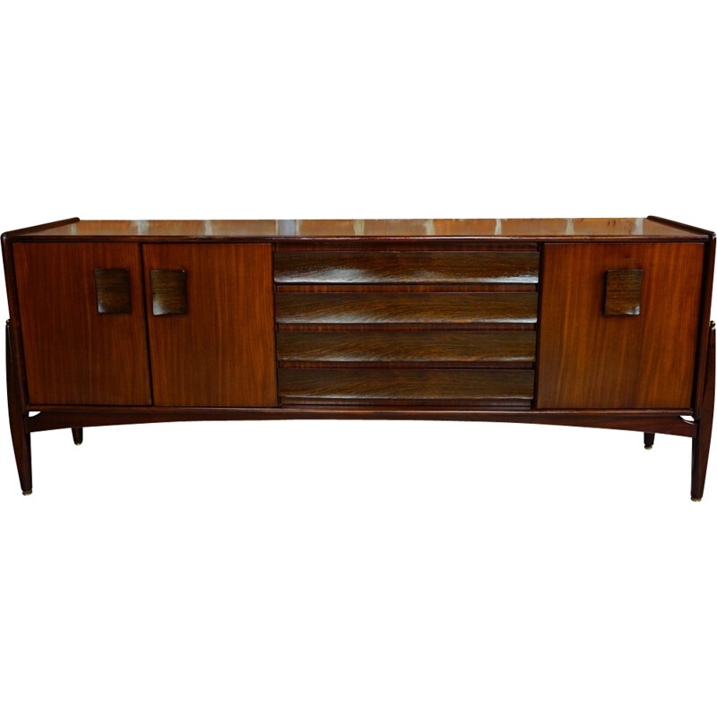 Zebrano and Afromosia vintage sideboard - 1960s