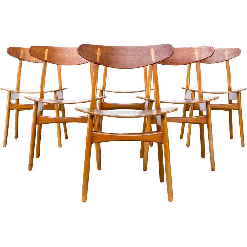Set of 6 CH-30 chairs by Hans J. Wegner for Carl Hansen & Son - 1950s