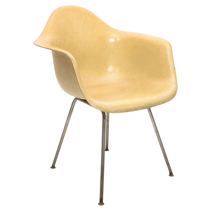 """Parchment """"DAX"""" armchair, Charles & Ray EAMES - 1950s"""